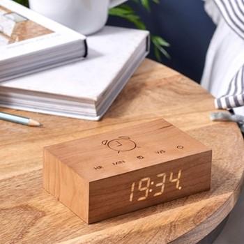 Flip Click Clock, L11.5 x W7 x H3.6cm, cherry