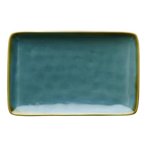 Concerto Pair of rectangular trays, L20 x W13cm, Blue