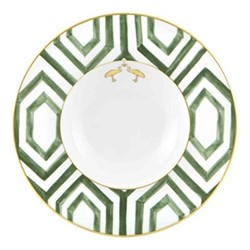 Amazonia Soup plate, 25 x 4cm, green