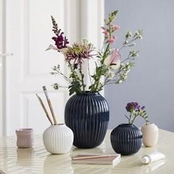 Hammershoi Vase, W13.5 x H12.5cm, indigo