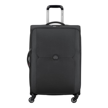 Mercure 4 wheel expandable trolley case, 68cm, black