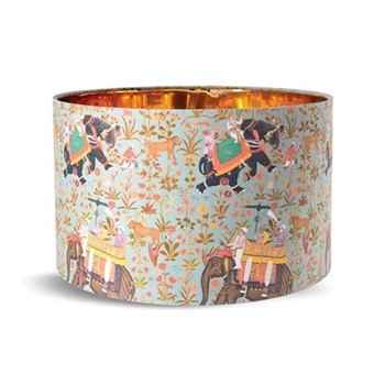 Small drum lampshade with metallic gold lining H22 x L35 x W35cm