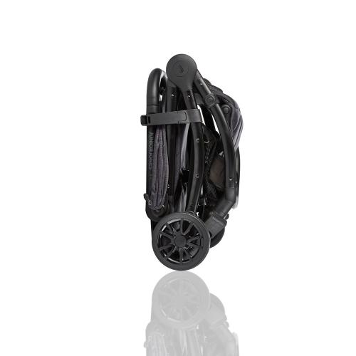 J-tourer Stroller, Graphite black, H102 x W47 x L66cm, Black