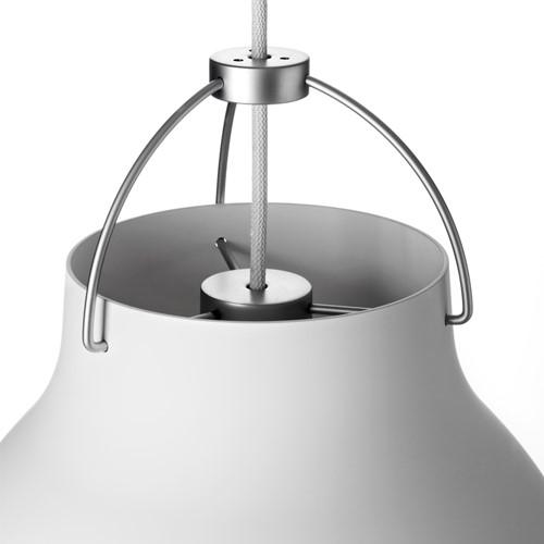 Caravaggio-P1 Pendant lamp, H20.5 x Dia16.5cm, Matt White