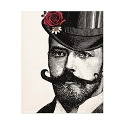 Dashing Gent Art print, H50 x W40cm, multi