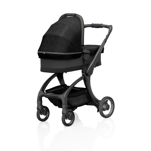 J-carbon Carrycot, Graphite black, H18 x W44 x L88cm, Black