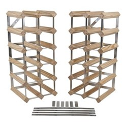 Flexi 30+ bottle wine rack, H52 x W23 x D23cm, natural/galvanised steel