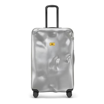 Icon Large suitcase, H79 x W50 x D30cm, metal silver