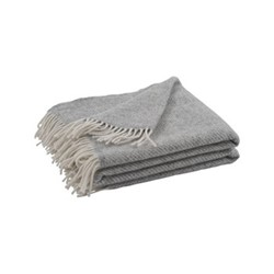 Cotswold Herringbone throw, L220 x W140cm, shingle