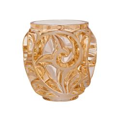 Tourbillons Vase, H12.6 x D12.2cm, Gold Lustre