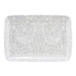 Pure Morris - Strawberry Thief Trinket tray, 19cm, grey/white
