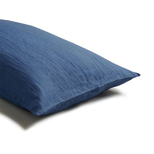 Pair of standard pillowcases, 50 x 75cm, Blueberry
