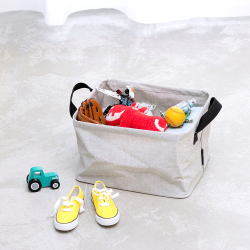 Laundry basket, foldable, 35 litre, Grey