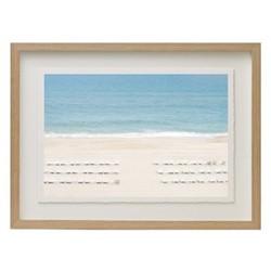 Montauk Beach by Juliette Charvet Framed fine art photographic print, 133 x 95 x 3.3cm, ash frame