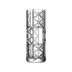 Explicit Checks vase, H30 x W11.4cm, glass