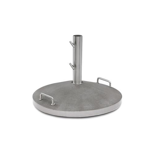 Capri Parasol foot, Dia60 x H45cm, Concrete/Stainless Steel