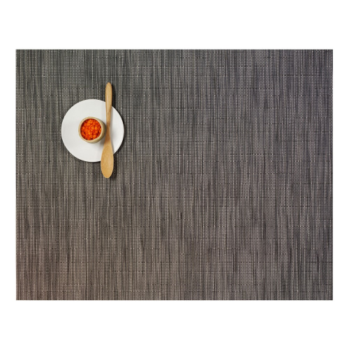 Bamboo Set of 4 rectangular placemats, 36 x 48cm, Grey Flannel