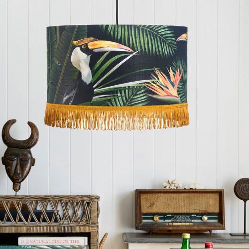 Birds of Paradise Pendant Lamp, H28 x Dia45cm