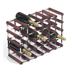30 bottle wine rack, H43 x W63 x D23cm, dark/galvanised steel