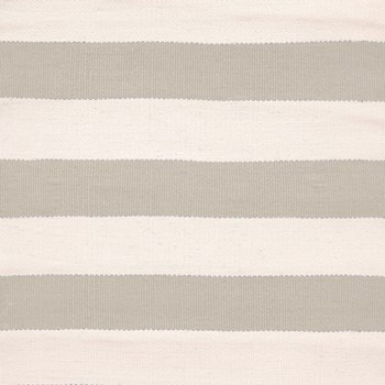 Catamaran Stripe Polypropylene indoor/outdoor rug, W122 x L183cm, platinum ivory