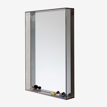 Lucent By Matthew Hilton Mirror, W53 x H75 x D10cm, smoke