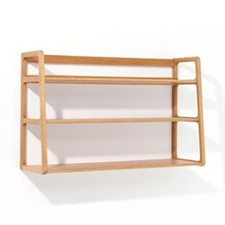 Agnes by Kay + Stemmer Wall shelving unit, W80 x D25 x H50cm, oak