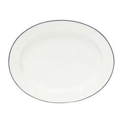 Beja Oval platter, 40cm, white