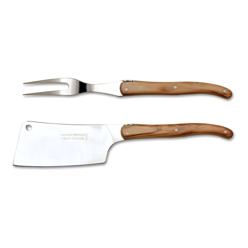 Laguiole 2 piece carving set in box, 34 x 25 x 4cm, Olive Wood