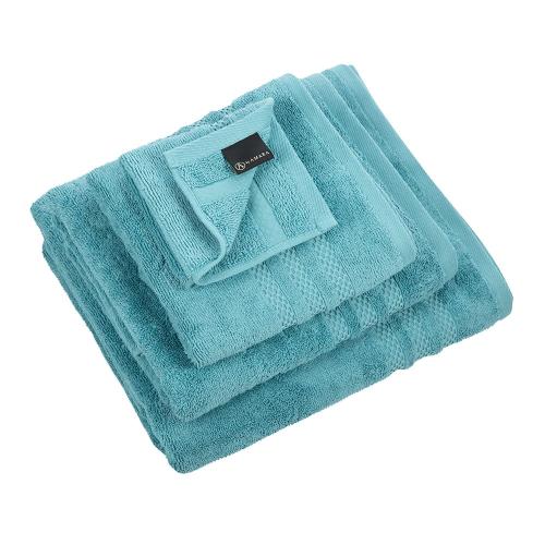 Egyptian Cotton Set of 3 face cloths, 30 x 30cm, Steel Blue