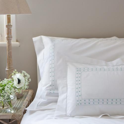 Matilda Oxford pillowcase, 50 x 75cm, Duck Egg Blue 200 Thread Count Cotton