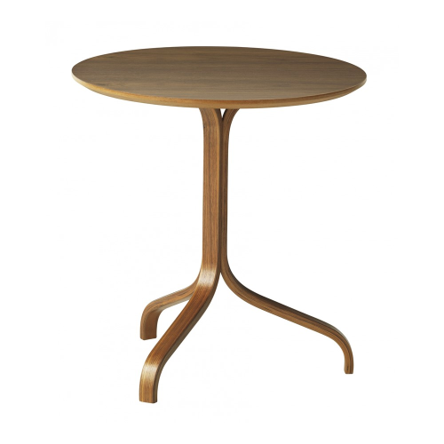 Lamino Side table, Dia46 x H49cm, Walnut