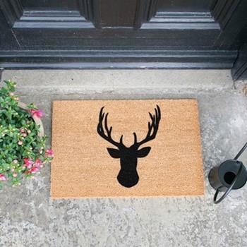 Stags Head Doormat  , L60 x W40 x H1.5cm