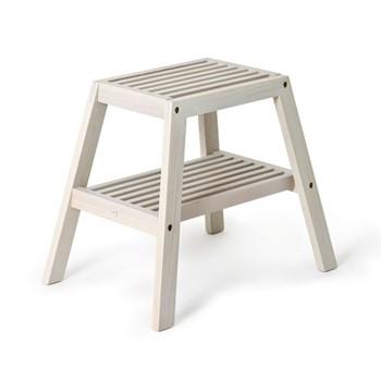 Slatted stool H42 x W50.5 x D35.4cm