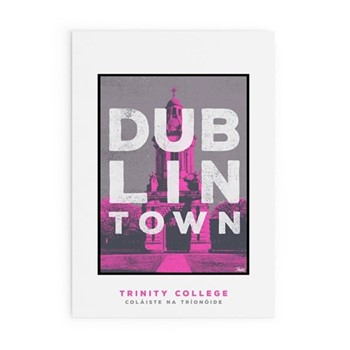 Dublin Town Collection - Trinity College Framed print, A4 size, multicoloured
