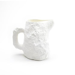 Crockery White Jug, D19 x H17cm, white