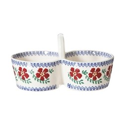 Old Rose Double dipper, W16 x H9cm