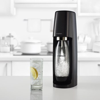 Spirit Sparkling water maker, H43 x W13 x D20cm, black