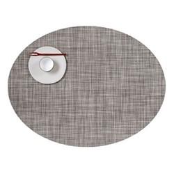 Mini Basketweave Set of 4 oval placemats, 36 x 49cm, gravel