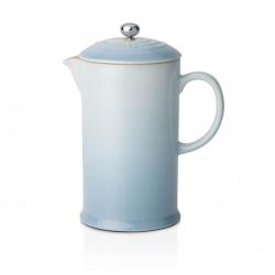 Stoneware Cafetiere, 1 litre, Coastal Blue