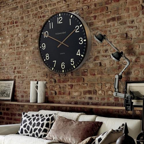 Clocksmith Wall clock, Dia53cm, Black/Brass