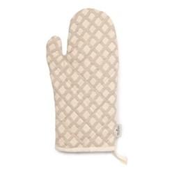 Cadogan Check Oven glove, 33 x 17cm, mushroom