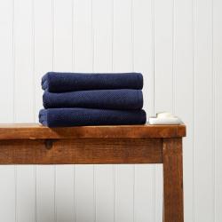 Brixton Pair of bath sheets, 90 x 150cm, Midnight