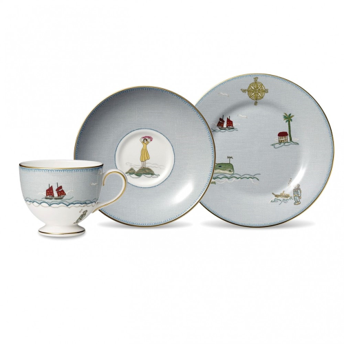 Sailors Farewell Teacup, saucer and 20cm plate, 21cl