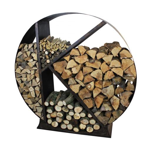 Log Log storage, 120x30x120, Metallic