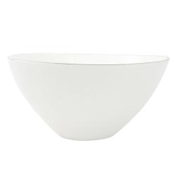 Abbesses Pair of large bowls, 24 x 11.4cm, grey rim