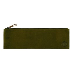 Leather tool pouch, L40 x H13cm, forest green