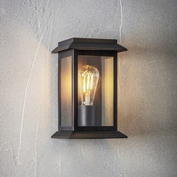 Carriage light, H28 x D13.5 x W17cm, bronze