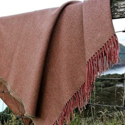 Wool and cotton mix throw 220 x 155cm