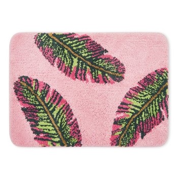 Banana Leaf Bath mat, H44 x L61cm, pink