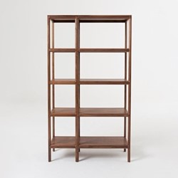 Trieste by Matthew Hilton High shelving unit, W150 x D36 x H180cm, walnut